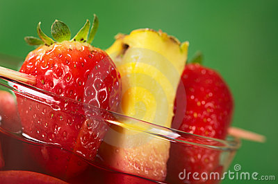 Strawberry and Pineapple Garnish