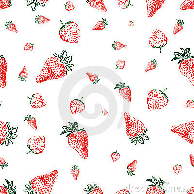 Strawberry Seamless Background (vector) Royalty Free Stock Images - Image: 15078829