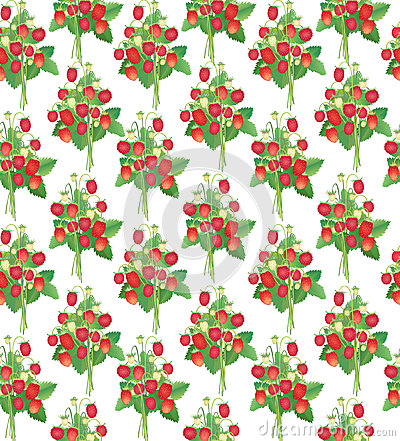 Free Strawberry  Seamless Pattern Stock Images - 26240254