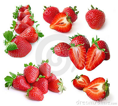 Free Strawberry Set Stock Photography - 16017452