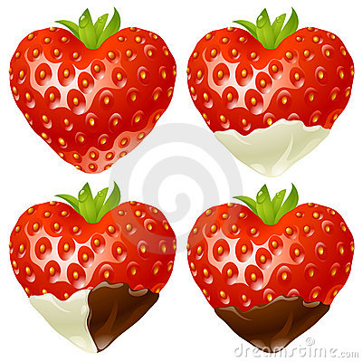 Strawberry in the shape of heart