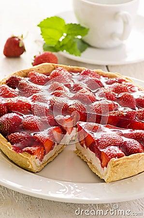 Free Strawberry Tart Stock Photography - 25591852