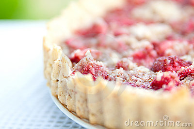 Strawberry tart close up