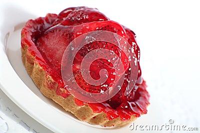 Strawberry tart slanted