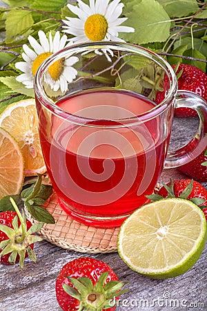 Free Strawberry Tea Stock Image - 40883931