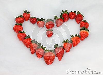Strawberry Valentine Heart