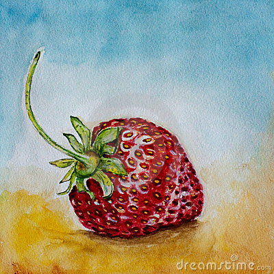 Strawberry watercolor