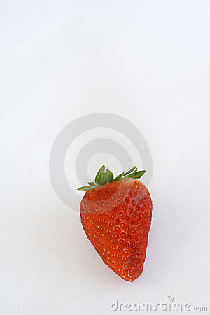 Strawberry on a white paper sheet