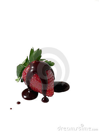 Free Strawberry With Chocolate Sauce Royalty Free Stock Photography - 864897