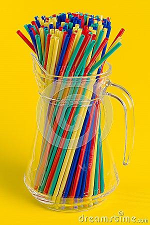 Straws in carafe