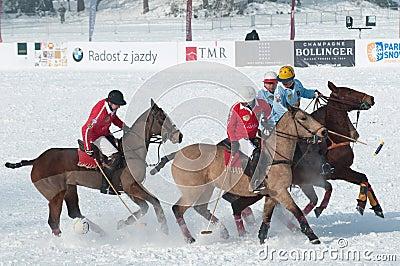 STRBSKE PLESO, SLOVAKIA - FEBRUARY 7: Polo on snow Editorial Stock Image