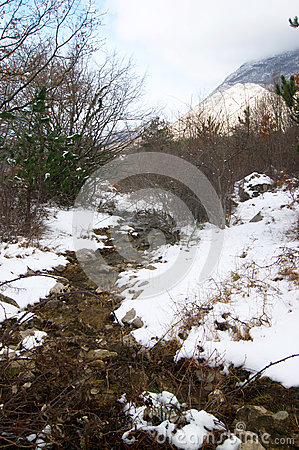 Free Stream In The Mountains Stock Photos - 61740543