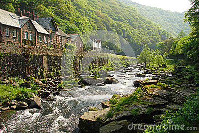 Stream in Lynmouth, England
