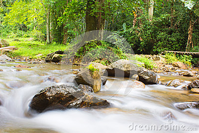Stream of the waterfall