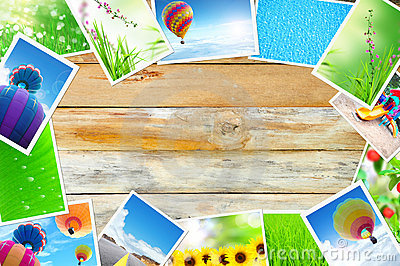 Streaming images on wood