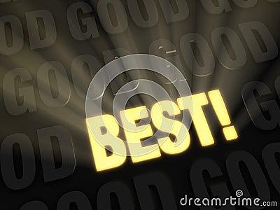 Streben Sie das Beste an