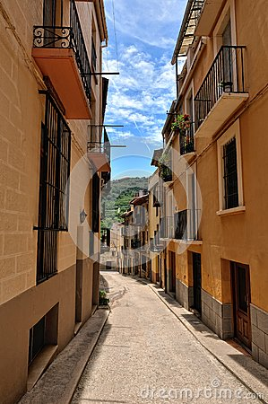 Streeets of the small spanish town Benassal.