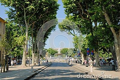 Street in  Aix-en-Provence, France