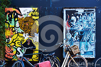 Street art in Amsterdam Editorial Photo