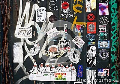 Street art in Amsterdam Editorial Photo