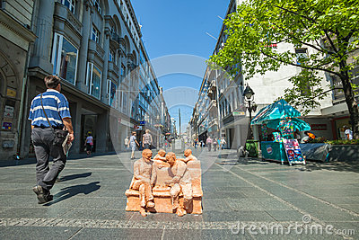 Street art in Belgrade Editorial Photography