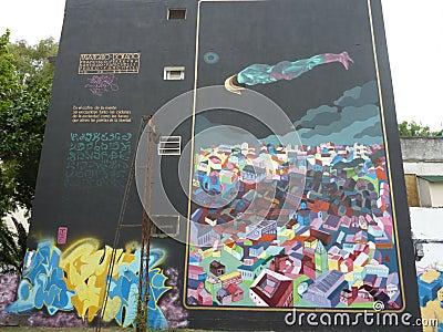 Street art. Editorial Stock Image