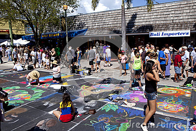 Street Art Festival in Lake Worth Florida Editorial Stock Photo