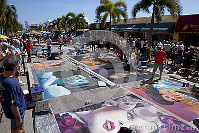 Street Art Festival in Lake Worth Florida Editorial Image