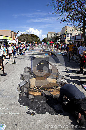Street Art Festival in Lake Worth Florida Editorial Photo