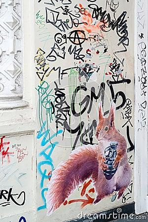 Street Art in Hamburg Editorial Photo