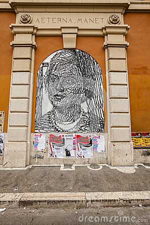 Murale in rome Editorial Image