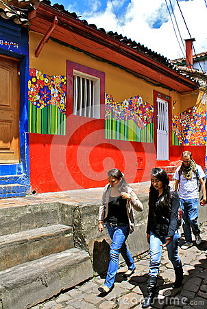 Street Art in Student Quarter, Bogota, Colombia Editorial Photography