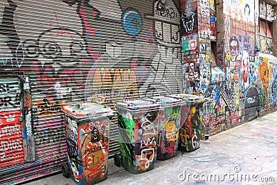 Graffiti street art Melbourne Editorial Photo