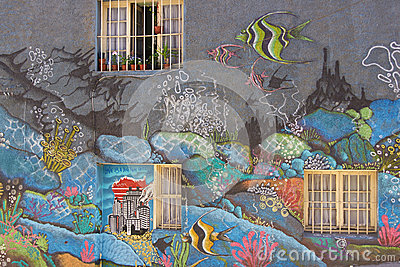 Street Art of Valparaiso Editorial Stock Image