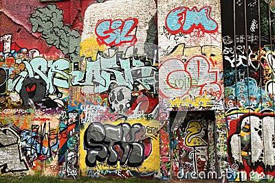 Street art wall Editorial Stock Photo