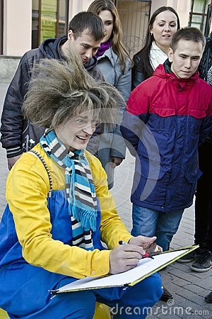 Free Street Artist Who Makes Portraits, Moscow, Russia Royalty Free Stock Photos - 109608438