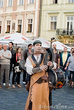 Street artists in Prague Editorial Photo
