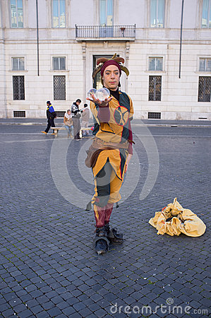 Street Artists in Rome Editorial Stock Photo