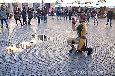 Street Artists in Rome Editorial Image