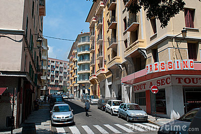 Street of Bastia. Editorial Photo