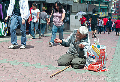 Street Beggar Editorial Photo