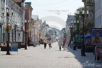 In nizhny novgorod. one of the most ancient streets of nizhny novgorod
