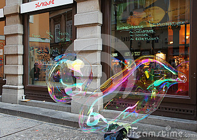 Street bubble art Editorial Image