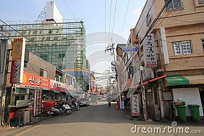 Street in busan south korea Editorial Photo