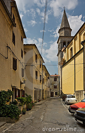 Street in Buzet, Croatia