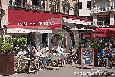 Street Cafe - Paris - France Editorial Stock Image