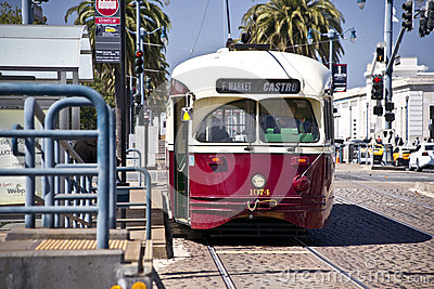 Street Cars of San Francisco Editorial Image