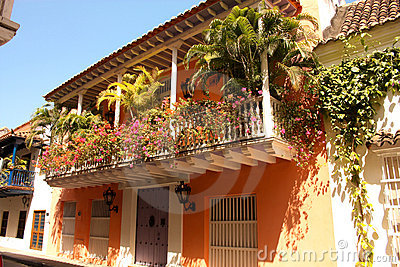 Street of Cartagena de Indias. Colombia