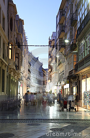 Street in Cartagena, Spain Editorial Stock Photo