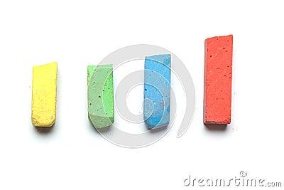 Street chalk for kids,  on white